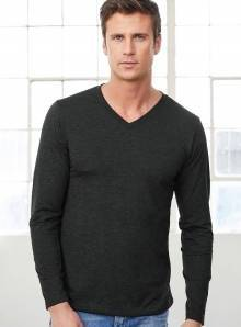 Bluzka męska Triblend Long Sleeve V-Neck Tee