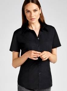 Damska koszula Workforce Poplin Shirt Short Sleeved